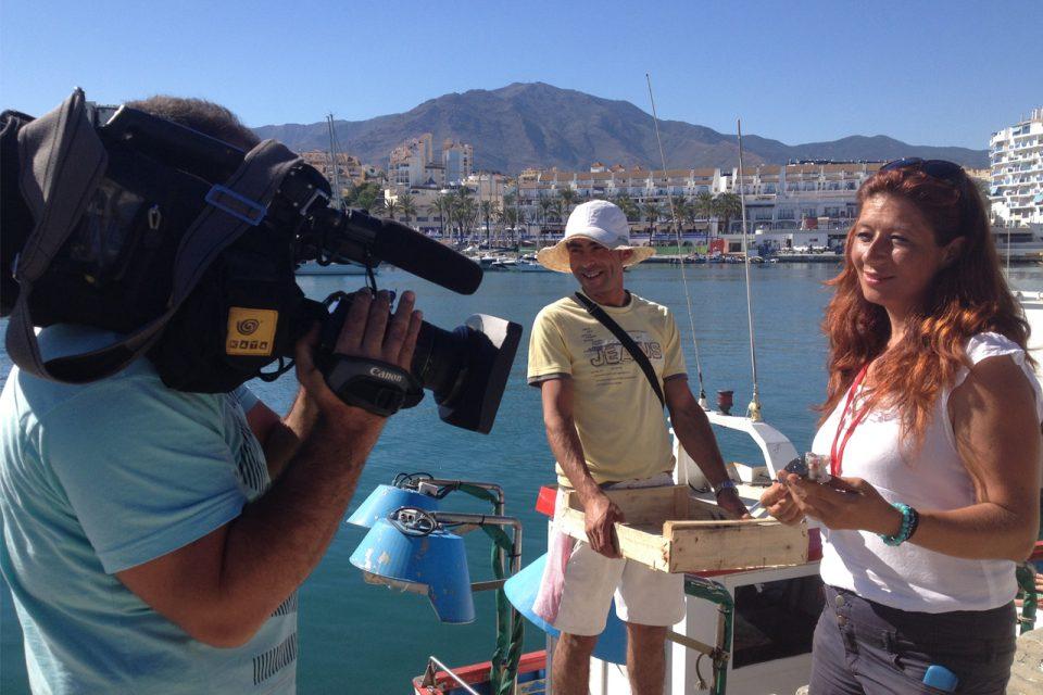 Entrevista de la de Televisión a Shonia
